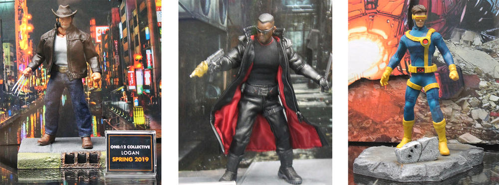 Logan, Blade, and Cyclops figures