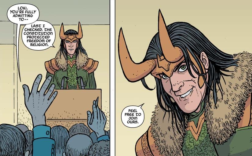 Loki at the podium