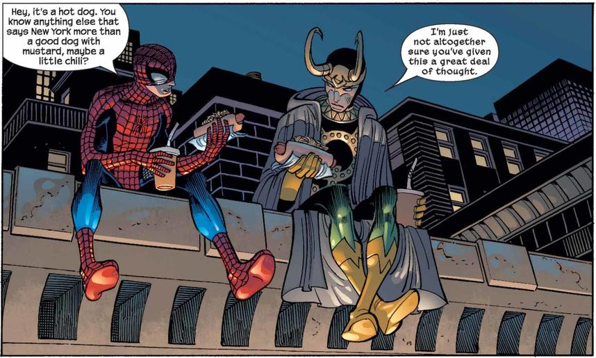 Loki and Spider-Man