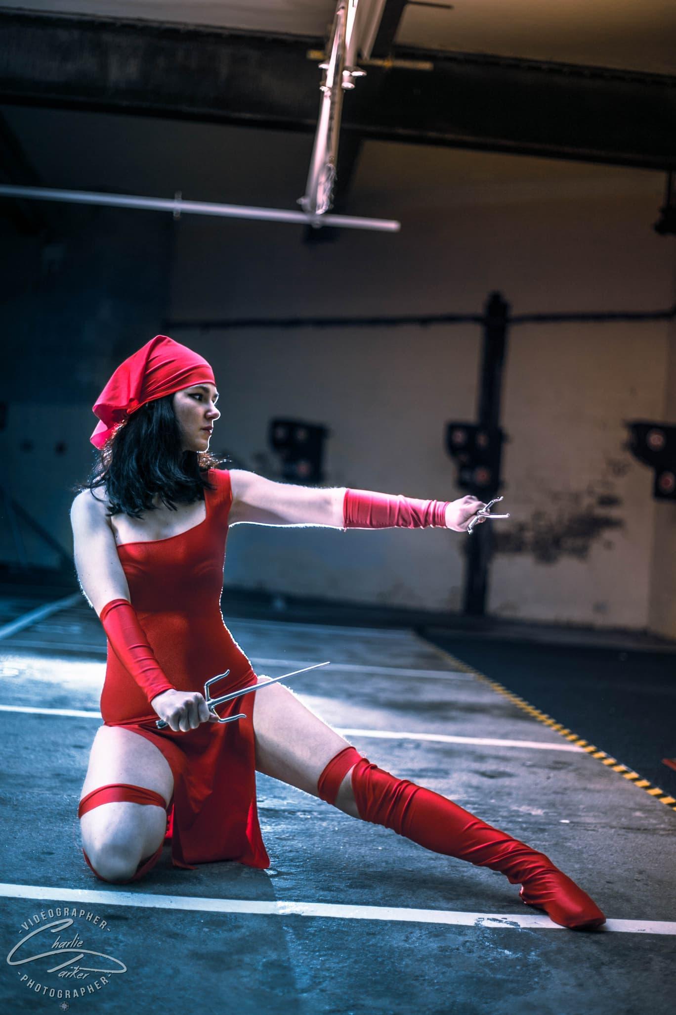 Louise AKA Tiny Tigress Cosplay as Elektra