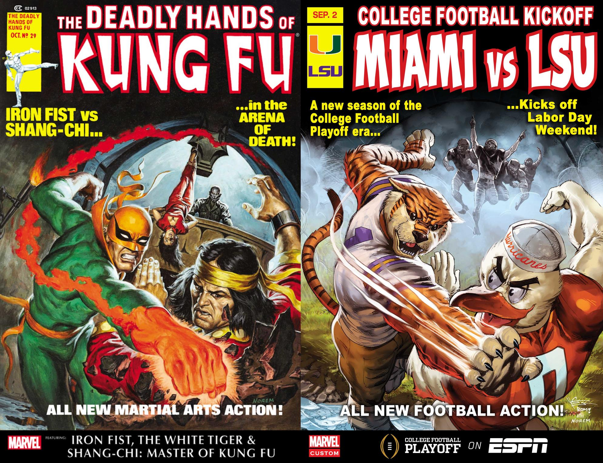 LSU vs Miami mascot cover
