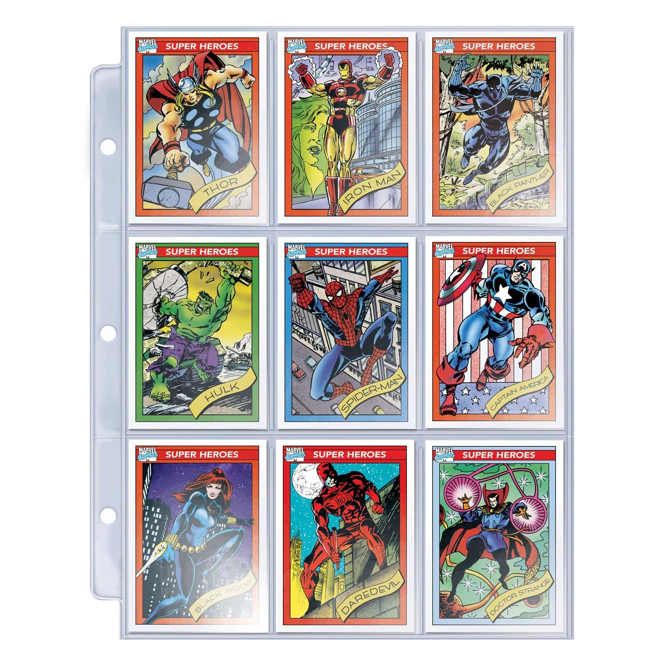 Marvel trading cards Avengers