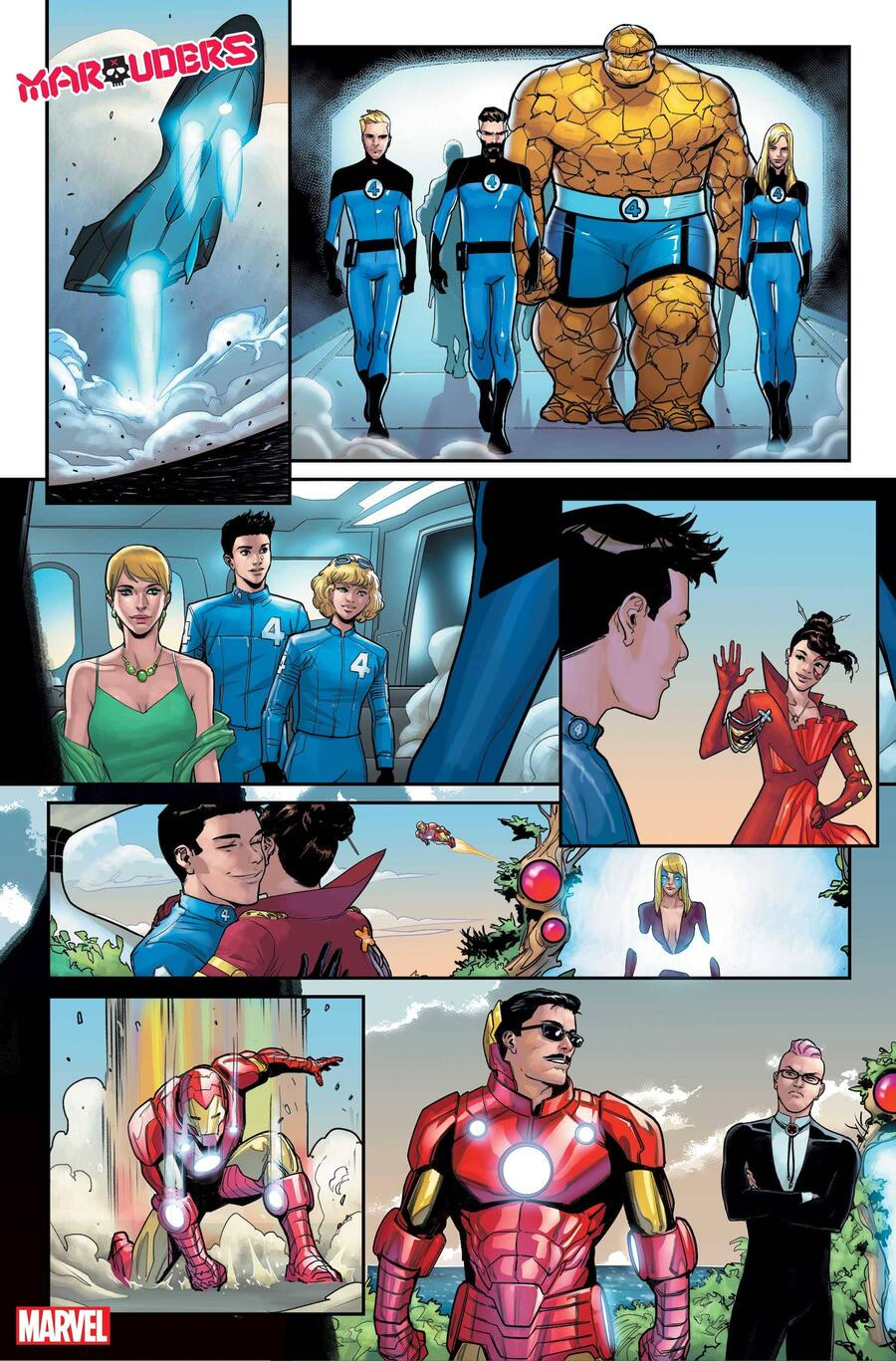 MARAUDERS #21 preview art by Matteo Lolli with colors by Edgar Delgado