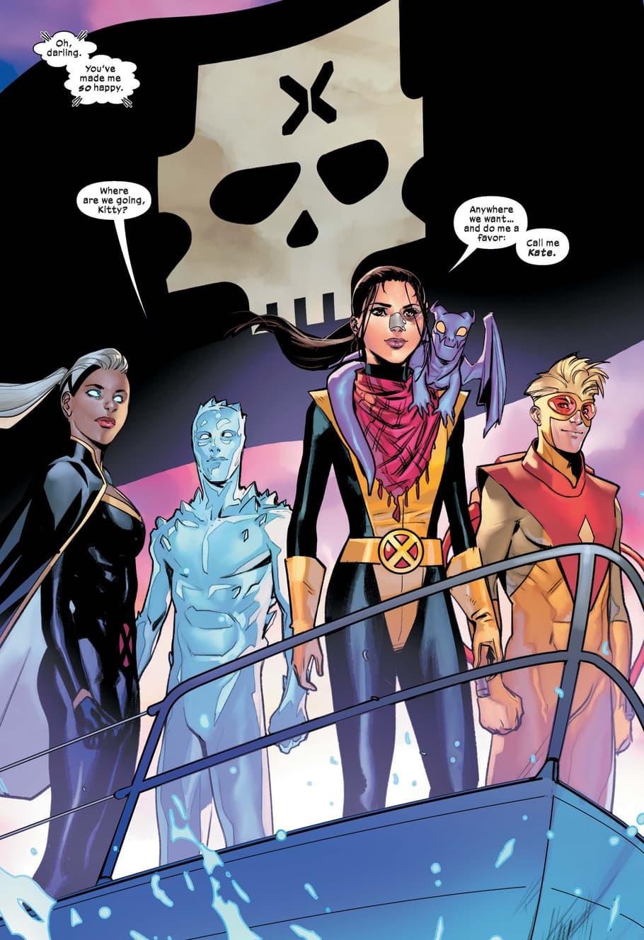 Kate Pryde brings the mutants home in MARAUDERS (2019) #1!