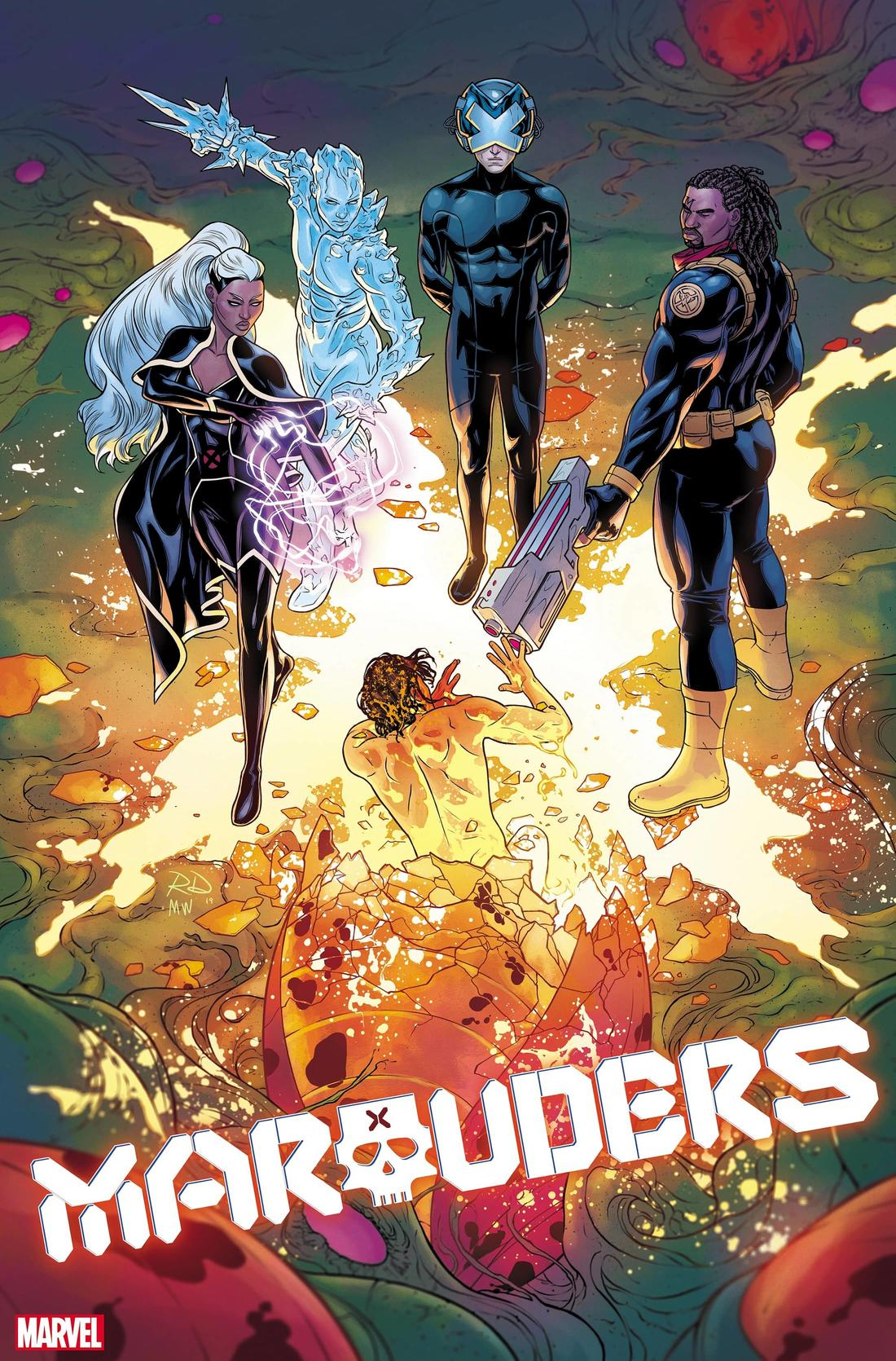 MARAUDERS #3 cover by Russell Dauterman and Matthew Wilson