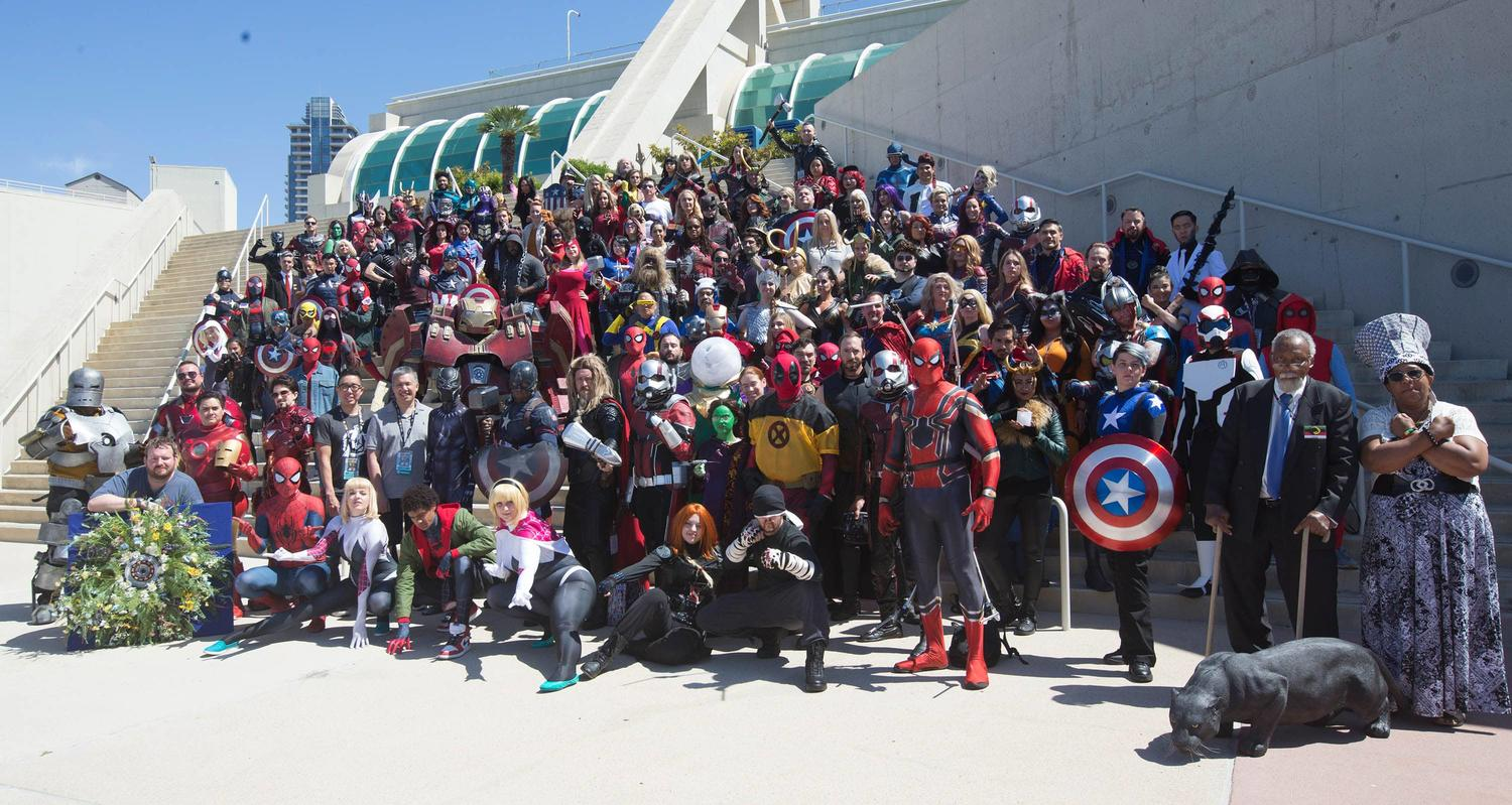 Marvel cosplayers