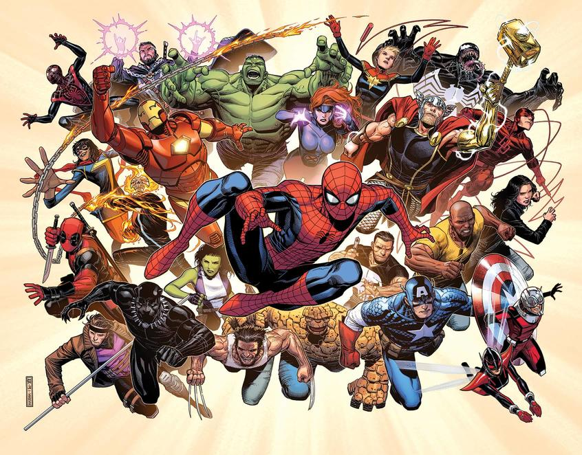 Marvel Super Heroes colored by Justin Ponsor