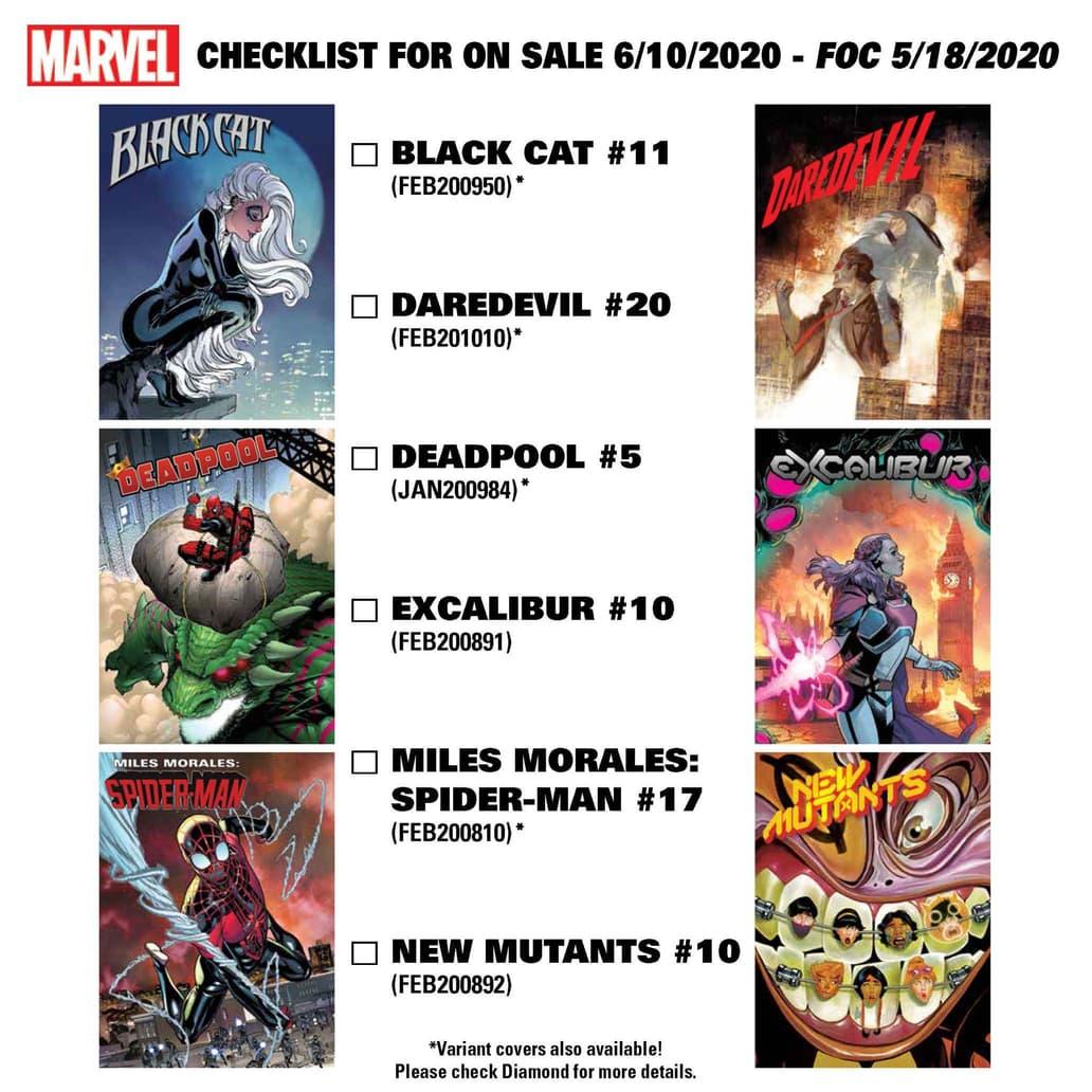 New comics coming June 10