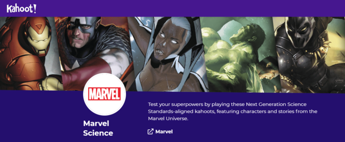 Kahoot Marvel Collection