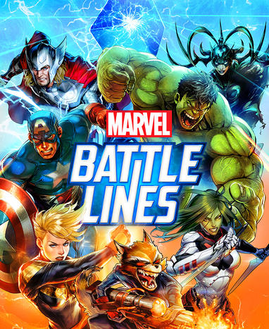 Marvel Battle Lines Game Poster