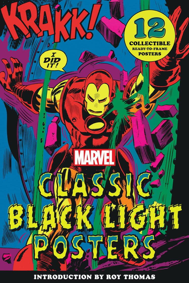 Marvel Classic Black Light Posters