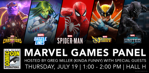 SDCC 2018 Games schedule