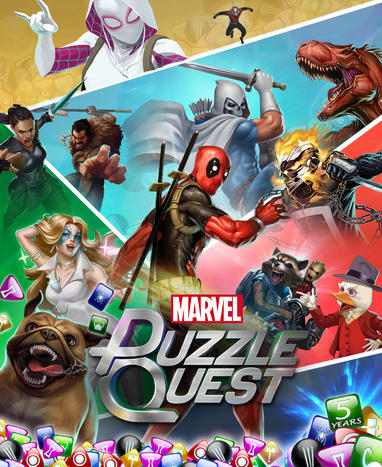 Marvel Puzzle Quest Game Poster Art