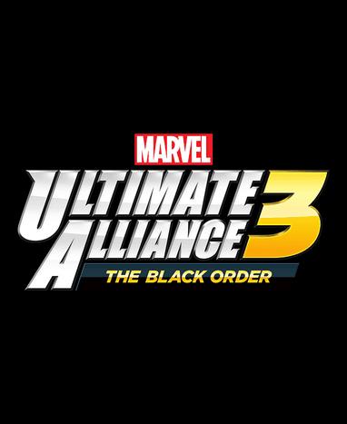 Marvel Ultimate Alliance 3 Game Logo on Black