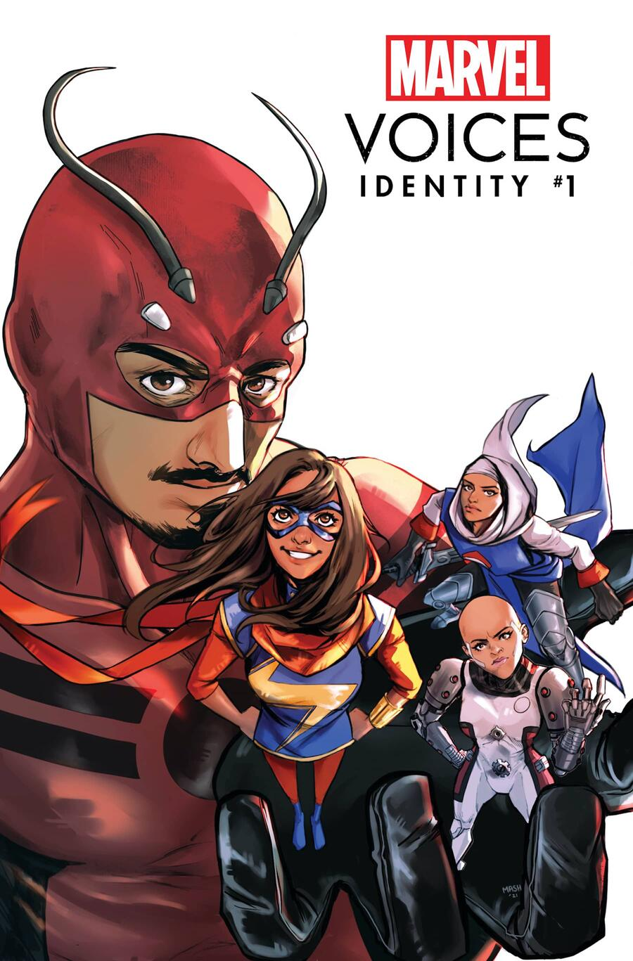 MARVEL'S VOICES: IDENTITY #1 Variant Cover by MASHAL AHMED