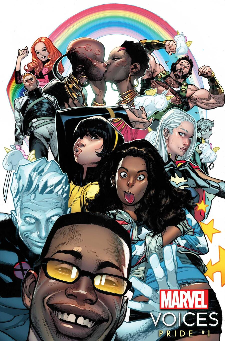 MARVEL'S VOICES: PRIDE #1 variant by Olivier Coipel
