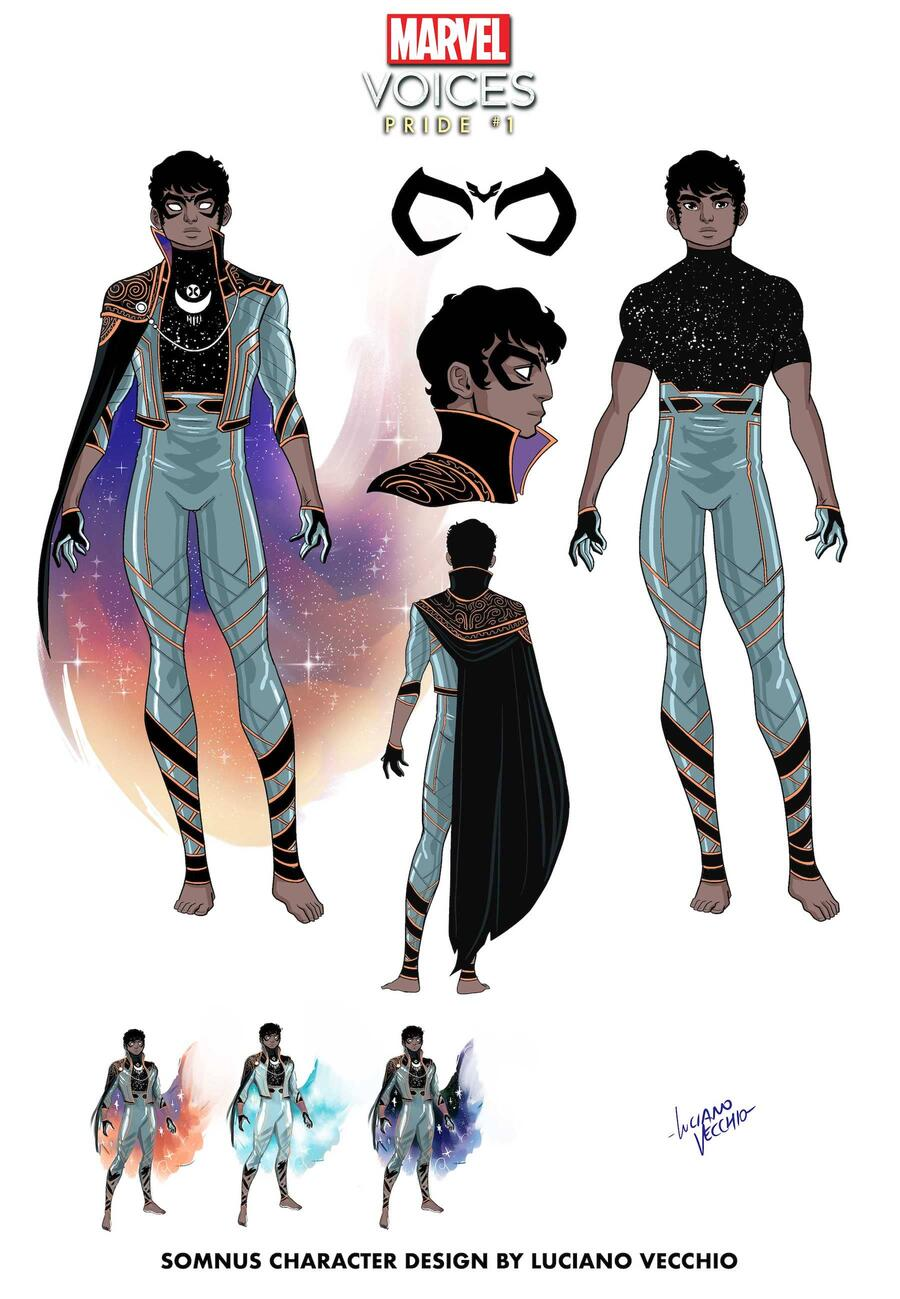MARVEL'S VOICES: PRIDE #1 Somnus character design