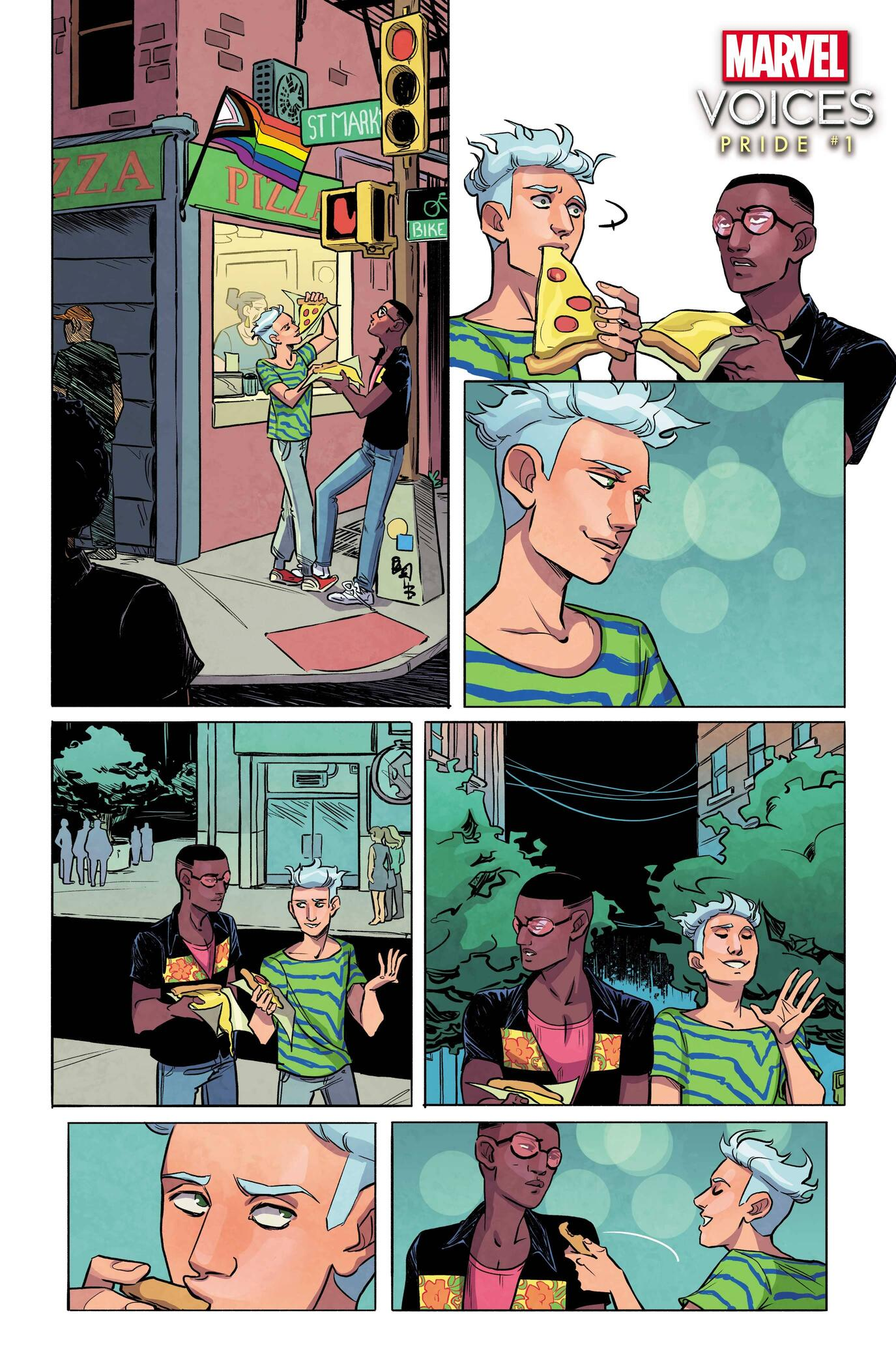 MARVEL'S VOICES: PRIDE #1 preview art by Jen Hickman, colors by Brittany Peer