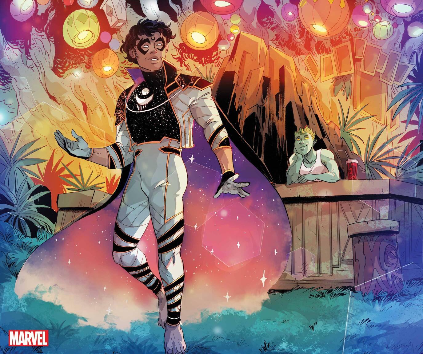 MARVEL'S VOICES: PRIDE #1 preview art by Claudia Aguirre, Somnus character design by Luciano Vecchio