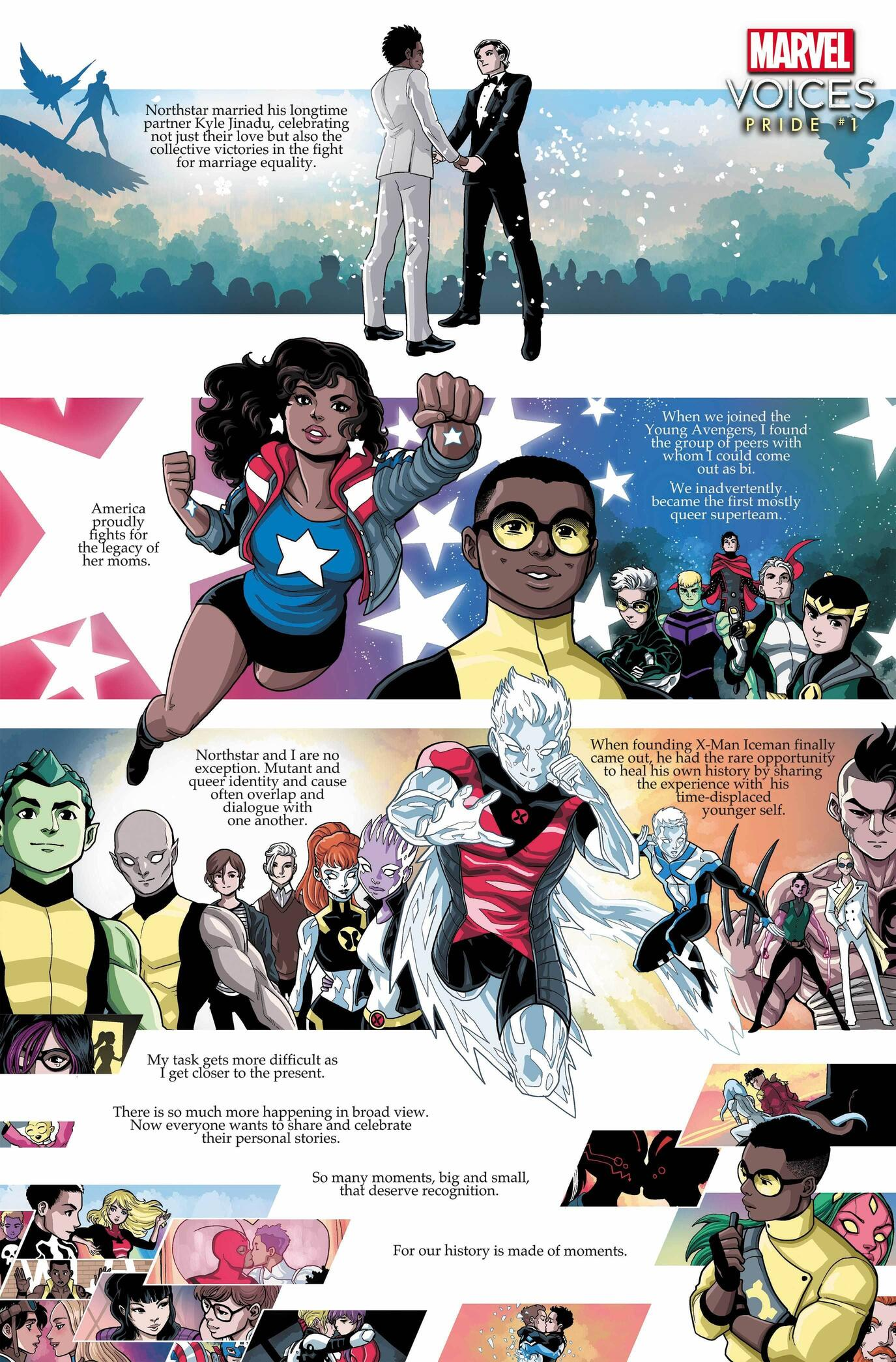 MARVEL'S VOICES: PRIDE #1 introduction by LUCIANO VECCHIO