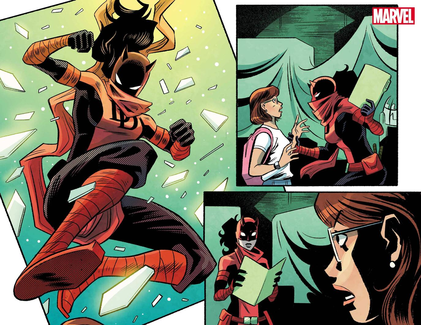 MARVEL'S VOICES: PRIDE #1 preview art by Derek Charm, colors by Brittany Peer