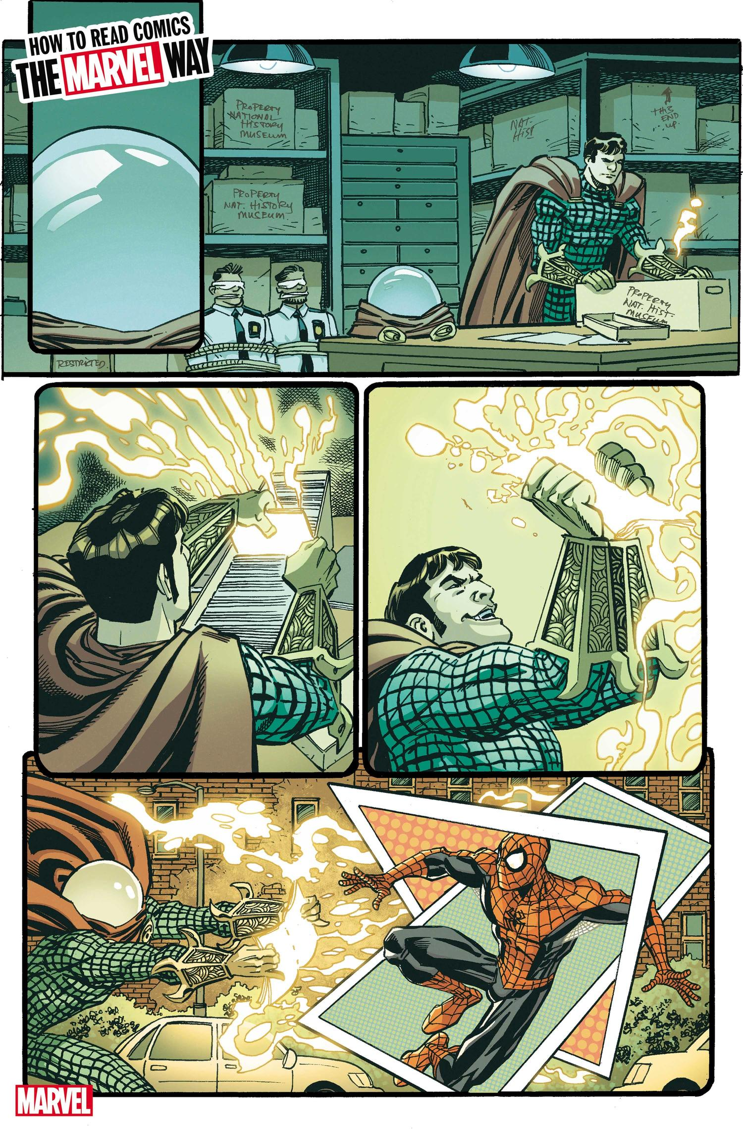 HOW TO READ COMICS THE MARVEL WAY #1 interiors by Scott Koblish with colors by Nolan Woodard