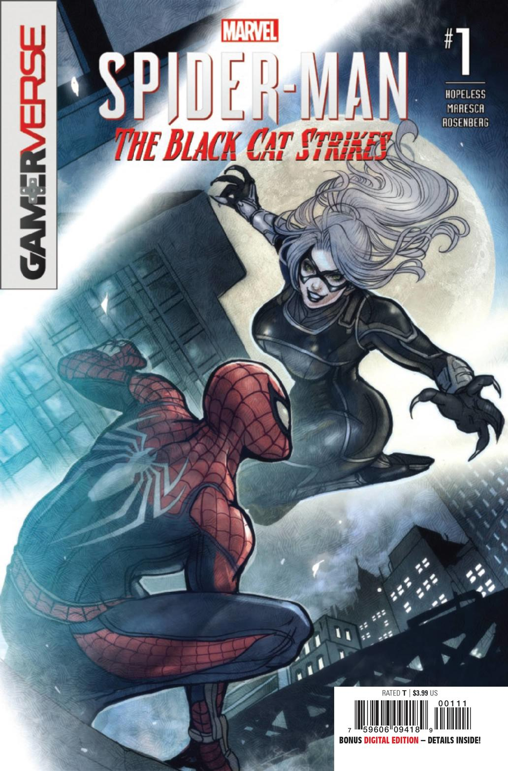 MARVEL'S SPIDER-MAN: THE BLACK CAT STRIKES #1 — Main Cover by Sana Takeda