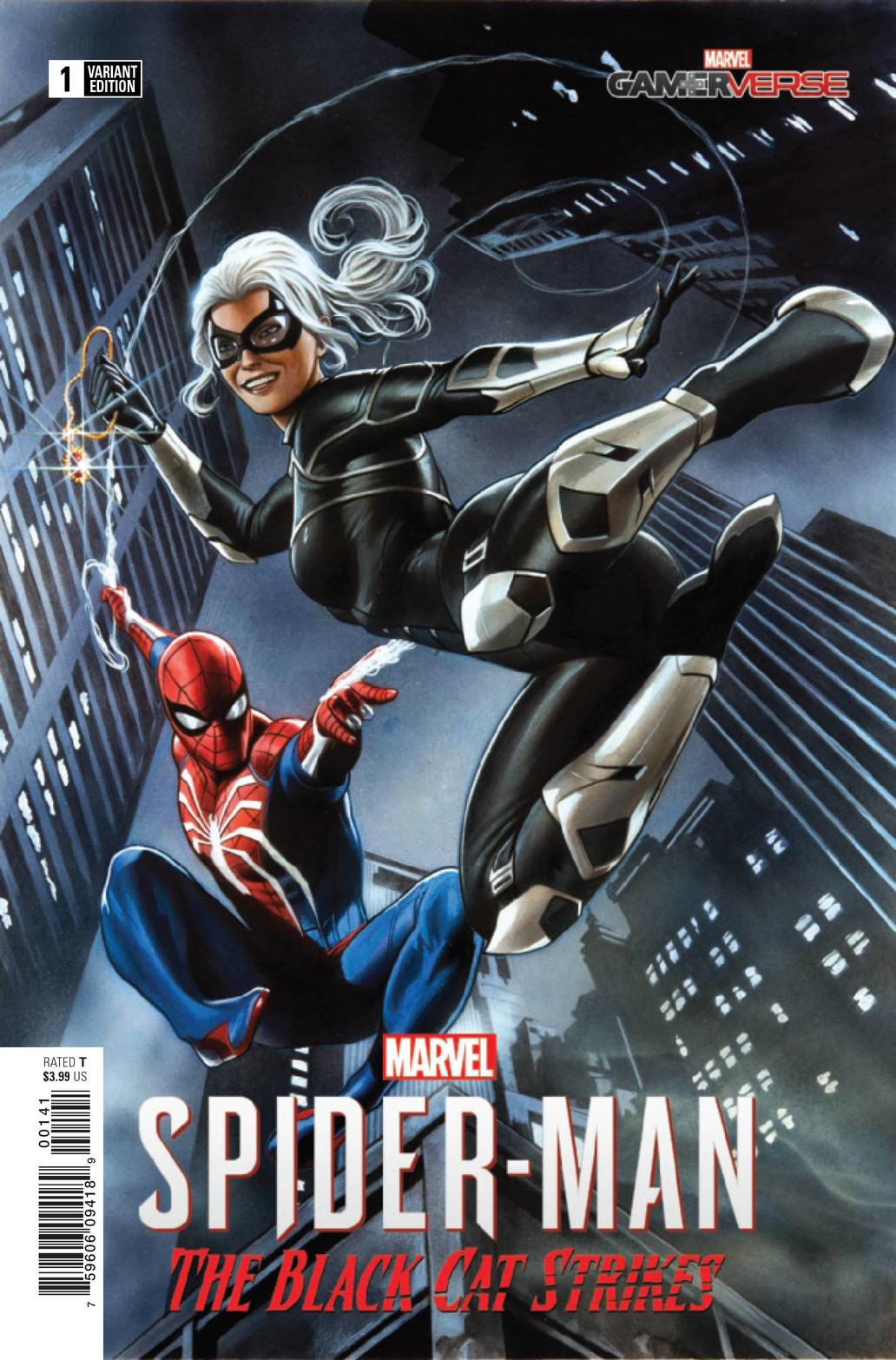 MARVEL'S SPIDER-MAN: THE BLACK CAT STRIKES #1 — Game Variant Cover by Adi Granov