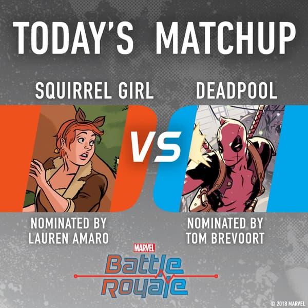 Marvel Battle Royale 2018 Squirrel Girl vs. Deadpool