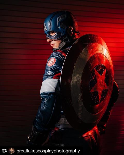 Matt Gnojek AKA Colorado Captain as Captain America