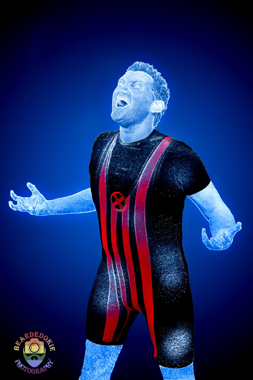 Matthew Pearson AKA Sentinelbait Cosplay as Iceman