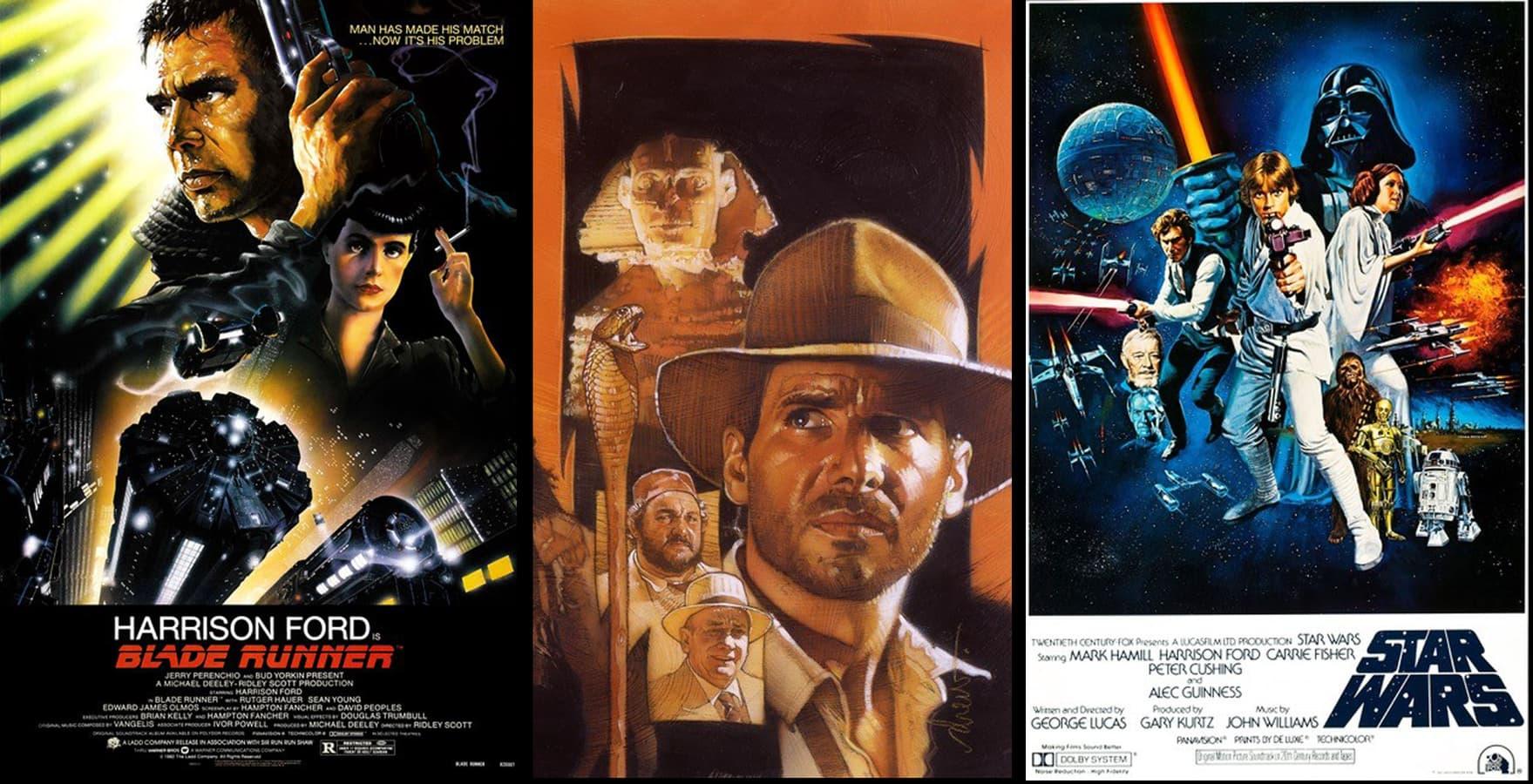 Blade Runner, Indiana Jones, Star Wars posters