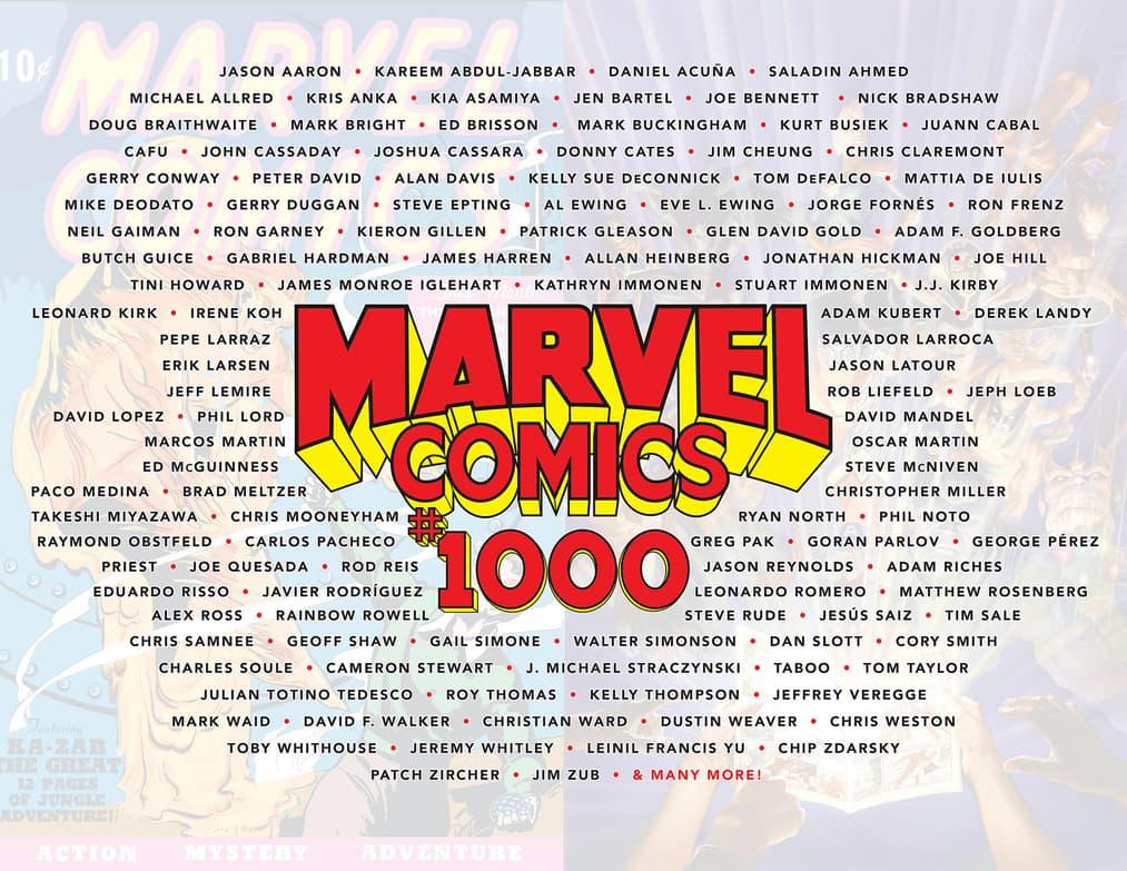 Marvel Comics #1000 creators