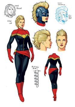 Captain Marvel comic book design by Jamie McKelvie