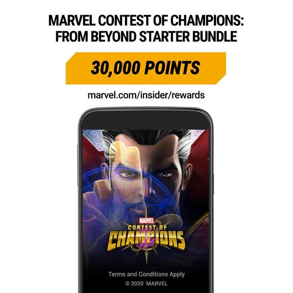 Marvel Insider Rewards: Marvel Contest of Champions From Beyond Starter Bunder 30,000 Points