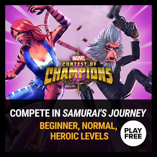 Marvel Insider Gaming Challenge Marvel Contest of Champions Samurai's Journey