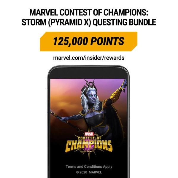 Marvel Insider Rewards: Marvel Contest of Champions Storm (Pyramid X) Questing Bundle 125,000 Points