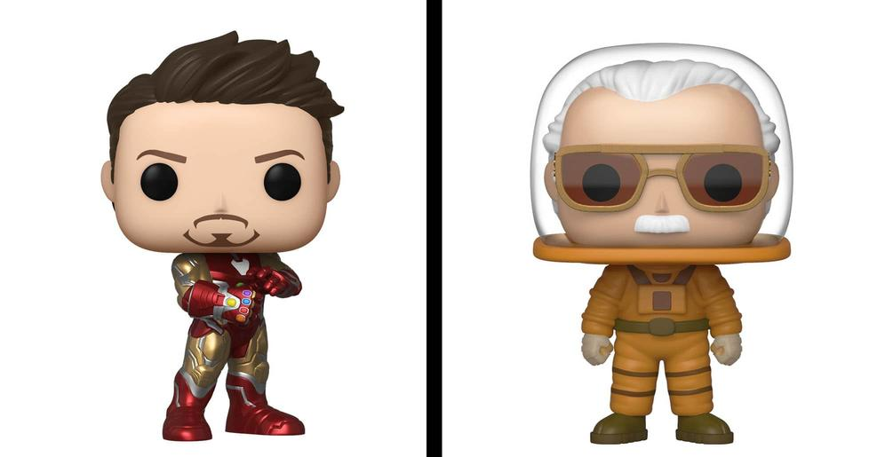 Marvel Funko POP figures Iron Man and Stan Lee