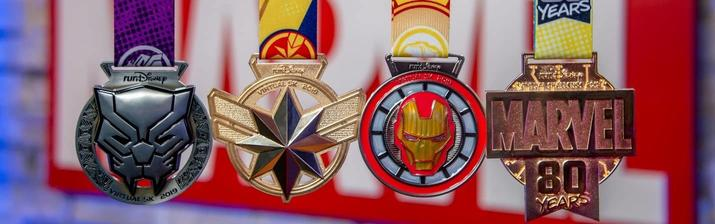 4 Commemorative Finisher Medals