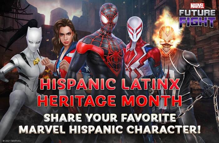 SHARE YOUR FAVORITE HISPANIC LATINX HERO WITH MARVEL FUTURE FIGHT