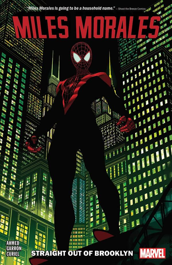 Cover to MILES MORALES VOL. 1: STRAIGHT OUT OF BROOKLYN