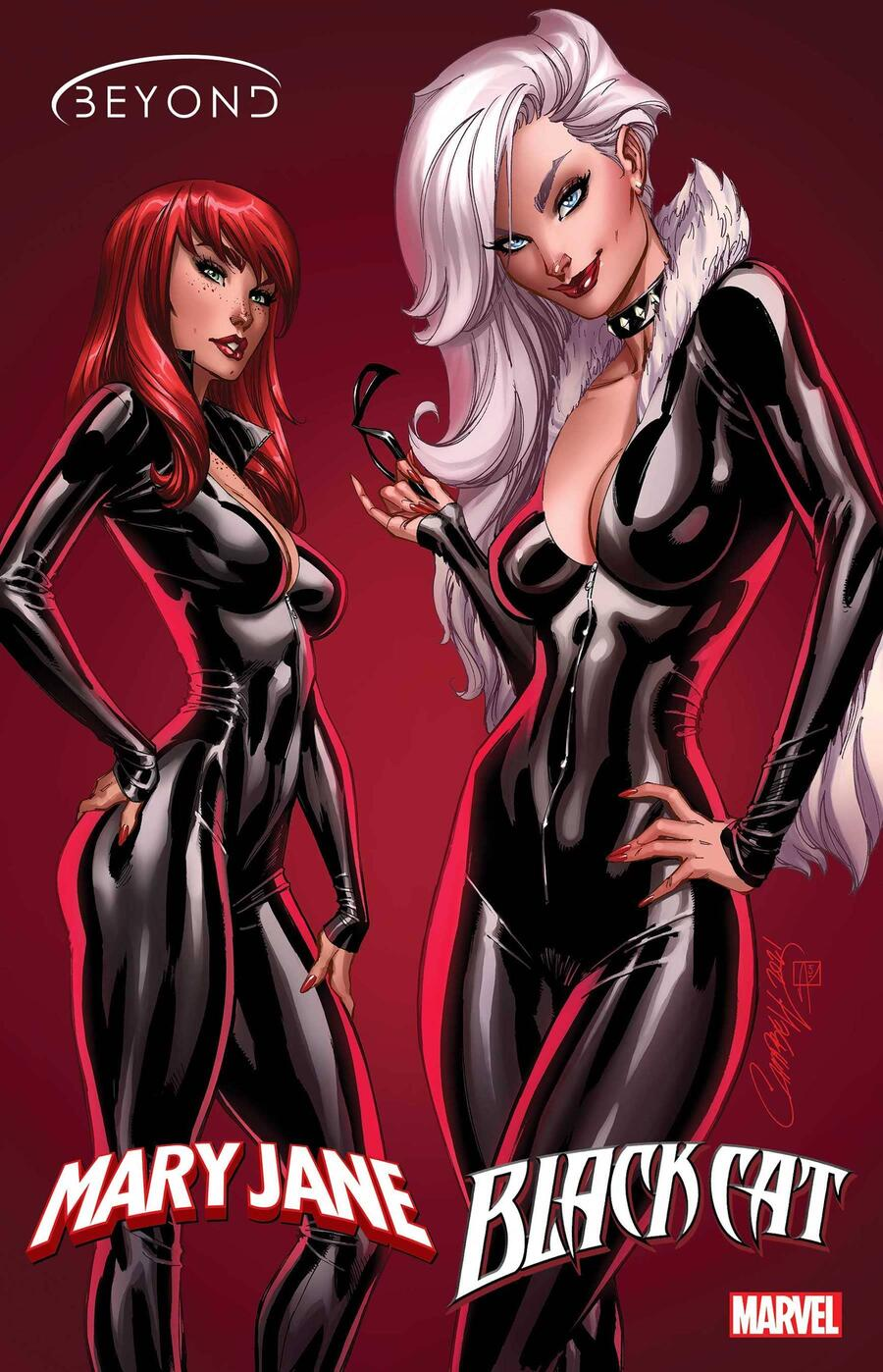 MARY JANE & BLACK CAT: BEYOND #1 cover by J. Scott Campbell