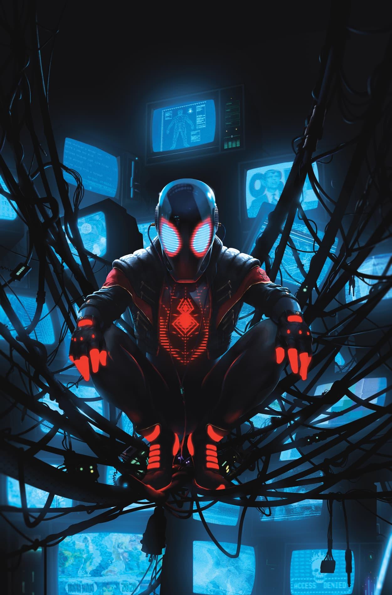 MILES MORALES: SPIDER-MAN #13 variant art by Rahzzah