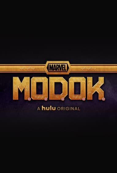 Marvel's M.O.D.O.K. Hulu TV Show Season 1 Logo on Black