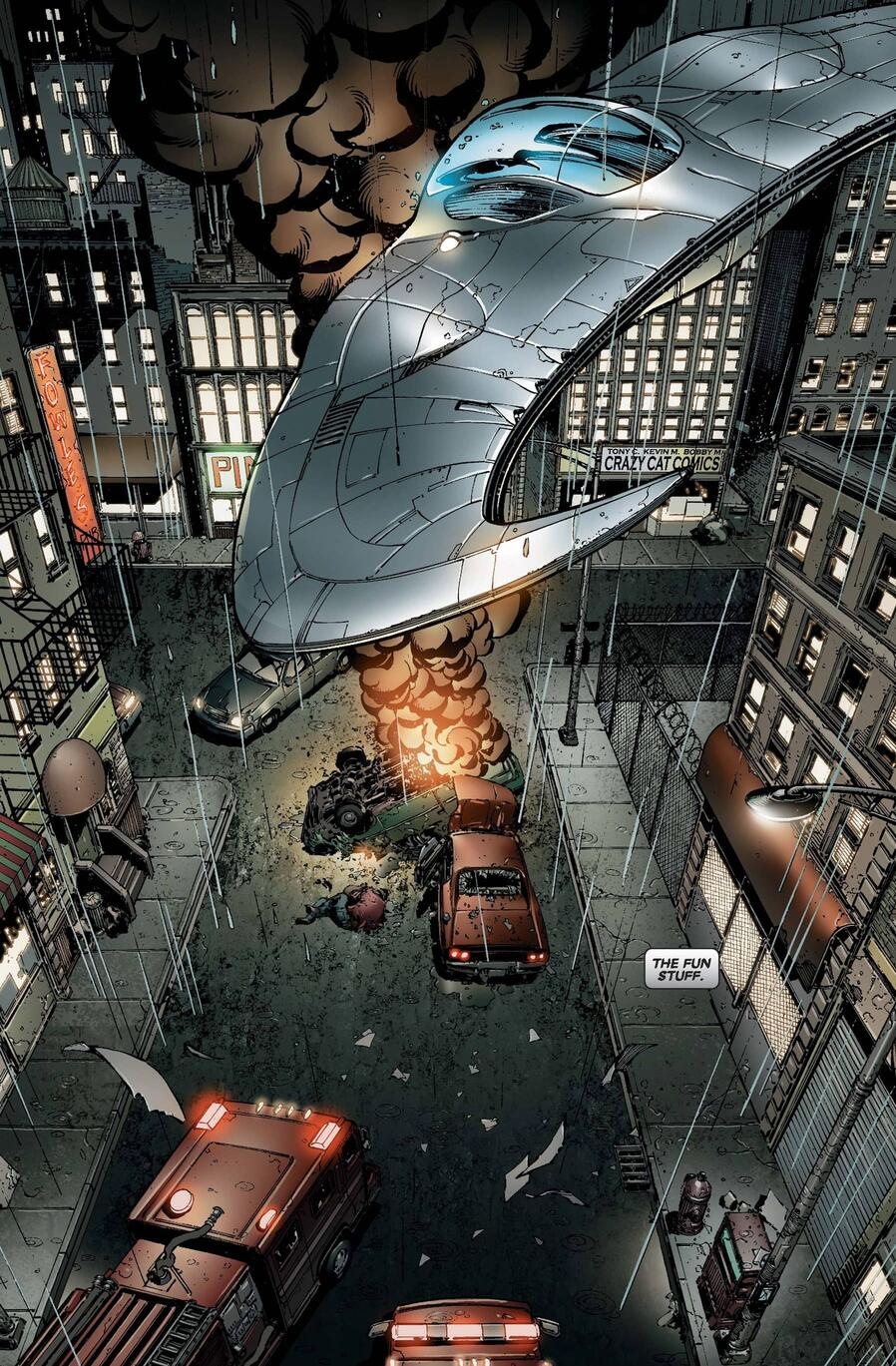 The Mooncopter in MOON KNIGHT (2006) #1.