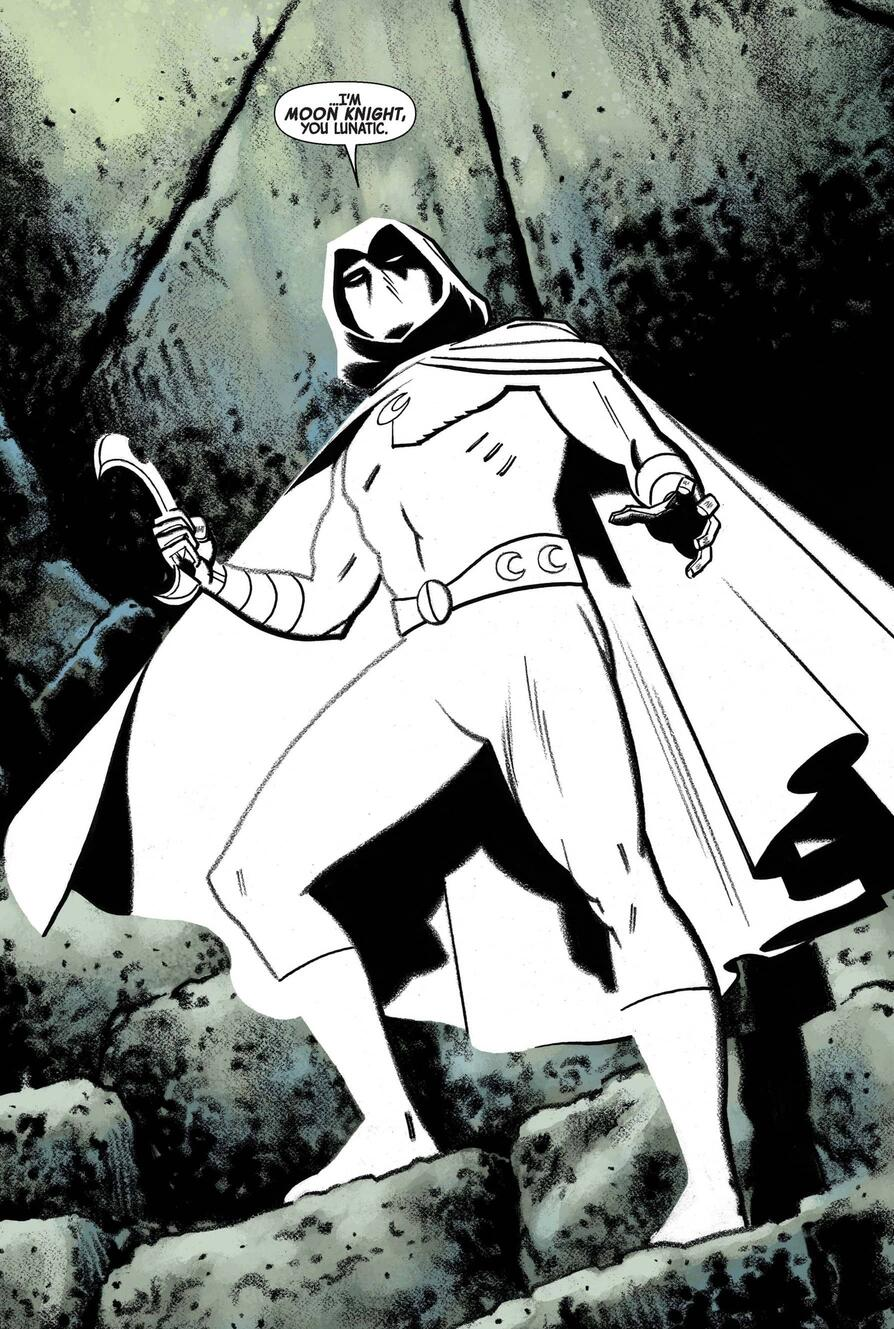 Moon Knight introduces himself in MOON KNIGHT (2016) #4.