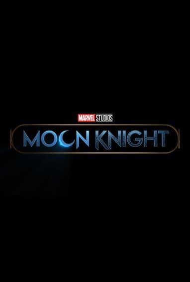 Marvel Studios Moon Knight Disney Plus TV Show Season 1 Logo on Black