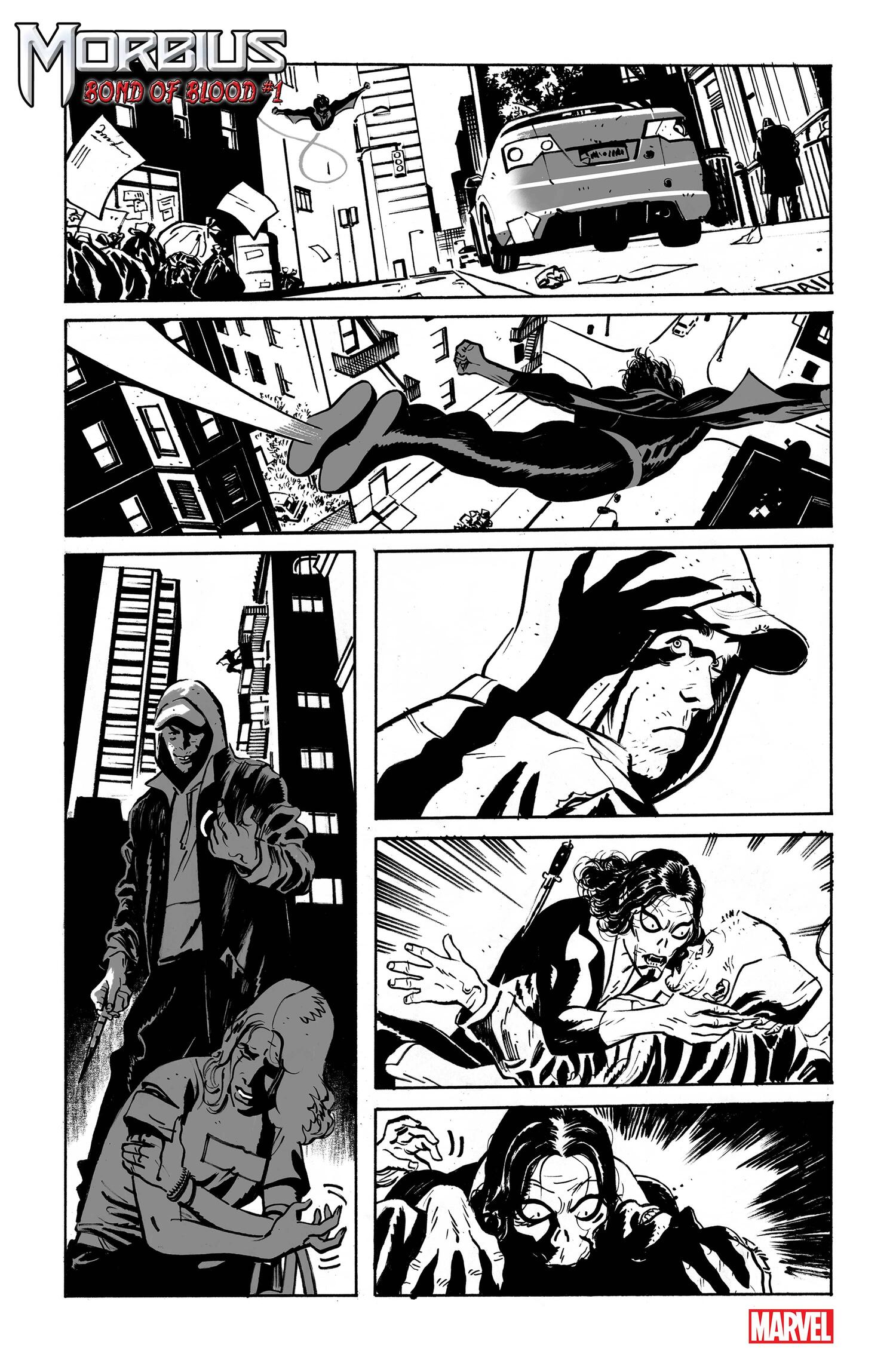 MORBIUS: BOND OF BLOOD #1 preview art by Tom Reilly