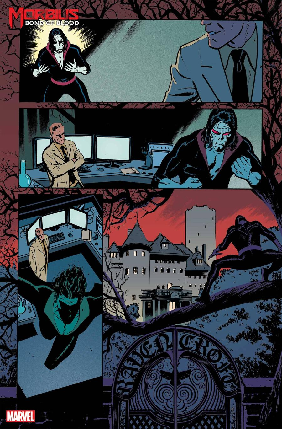 MORBIUS: BOND OF BLOOD #1 preview art by Tom Reilly with colors by Chris O'Halloran