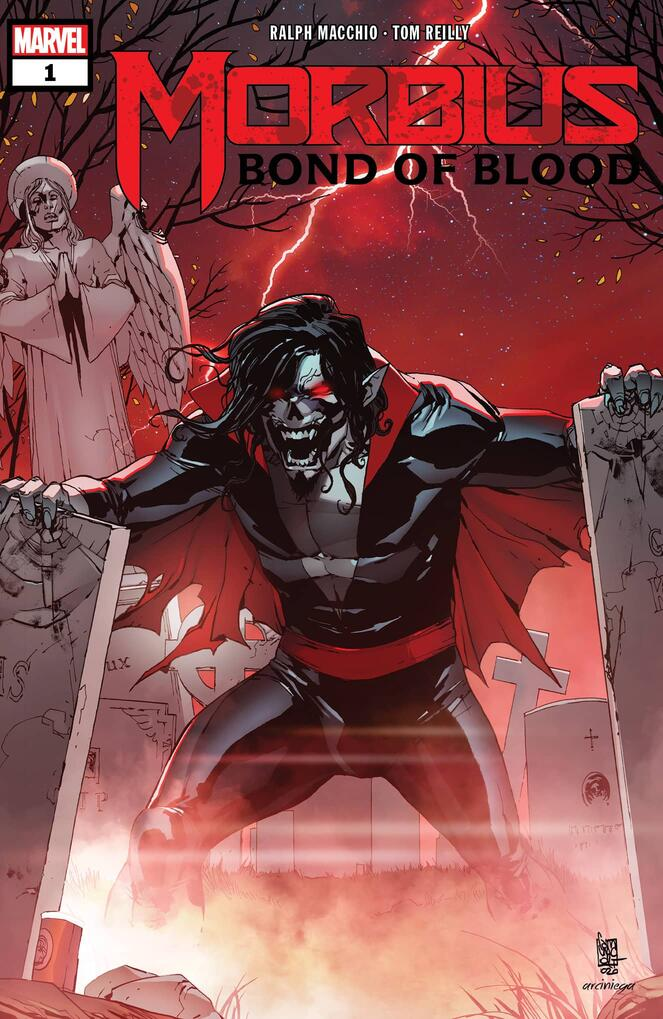 MORBIUS: BOND OF BLOOD #1 cover by Giuseppe Camuncoli